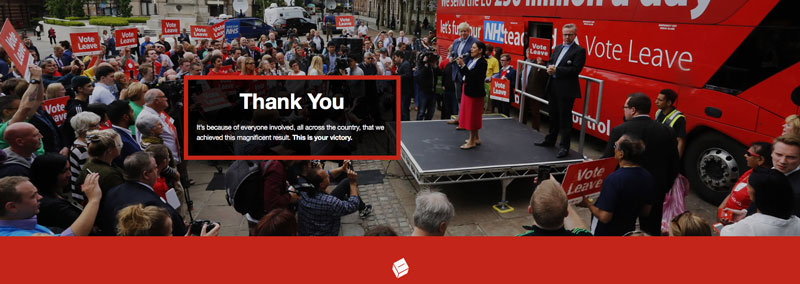 Vote leave: Thank you!
